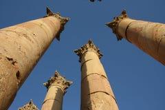 Spalte Romanesque Jerash Stadt Lizenzfreies Stockfoto