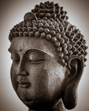 Spalte tonte Buddha-Kopf Lizenzfreies Stockbild