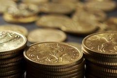Spalte vom Geld Lizenzfreie Stockfotos