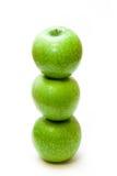 Spalte von den Äpfeln stockbild