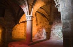Spalte von Mont Str. Michel Stockbilder