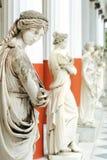 Spalte von Musen in Achillion Palast Lizenzfreies Stockfoto