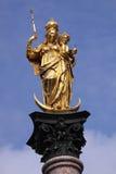 Spalte von Str. Mary in München Lizenzfreies Stockfoto