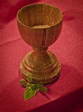 Spalted Maple Wooden Chalice Stock Image