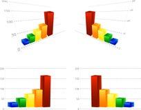 Spaltegraphikdiagramm Stockfotos