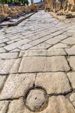 Spalten alter Roman Road City Jerash Jordan Lizenzfreies Stockfoto