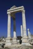 Spalten des alten Laodicea stockfoto