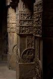Spalten des hinduistischen Tempels Stockbilder