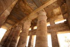 Spalten des Karnak Tempels, Ägypten, Luxor lizenzfreies stockbild