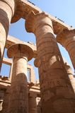 Spalten des Karnak Tempels Lizenzfreies Stockfoto