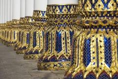Spalten des Phra Mahathat Vihan in Nakhon Sri Thammarat, Thailand Stockfotografie