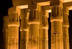 Spalten des Tempels von Luxor Stockfotos