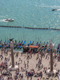 Spalten im Marktplatz San Marco in Venedig Stockfoto