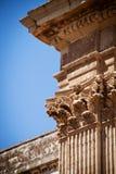 Spalten, Kirche Str.-Irenes, Lecce, Italien Lizenzfreies Stockfoto