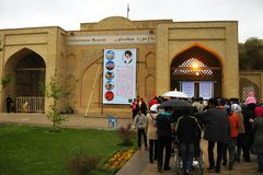 Spalten-Museum Chehel Sotoun vierzig in Isfahan, der Iran Stockfotos
