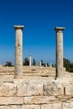 Spalten am Schongebiet von Apollon Ylatis, Zypern Lizenzfreies Stockbild