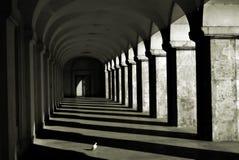 Spalten und Schatten Stockbild