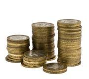 Spalten von Münzen 2 Stockbild