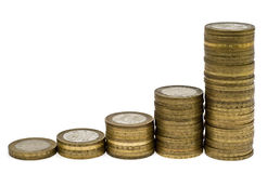 Spalten von Münzen 3 Lizenzfreie Stockbilder