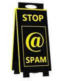 Spam! Σημάδι κινδύνου Στοκ φωτογραφία με δικαίωμα ελεύθερης χρήσης