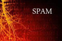 Spam Abstract. Background in Red and Black Stock Photography