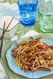 Spam Bean Sprout Stir Fry. Hawaiian stir fry made with spam and bean sprouts Stock Images