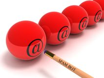 SPAM BOT Royalty Free Stock Photo
