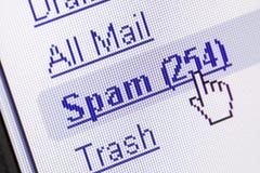 Spam in brievenbus Royalty-vrije Stock Afbeelding