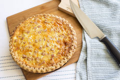 Spam And Cheese Quiche Stock Photography