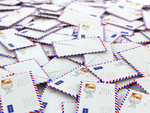 Spam concept. Background from mailing letters. Stock Photo