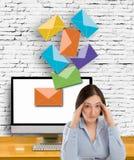 Spam dans mon email Photo libre de droits