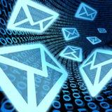 Spam de la promoción de las comunicaciones de la transferencia de datos del email Fotografía de archivo