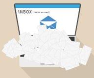 Spam del email Fotografía de archivo libre de regalías