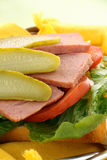 Spam And Dill Pickle Royalty Free Stock Images