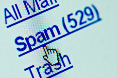 Spam e-mail folder royalty free stock photos