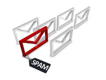 Spam eMail filter Stock Photography