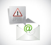 Spam email illustration design Royalty Free Stock Image