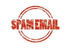 Spam email red rubber stamp Stock Image