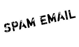 Spam Email rubber stamp Royalty Free Stock Images