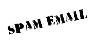 Spam Email rubber stamp. Grunge design with dust scratches. Effects can be easily removed for a clean, crisp look. Color is easily changed Royalty Free Stock Image