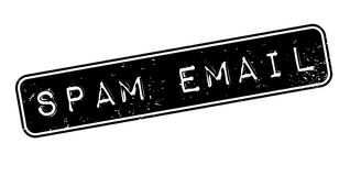 Spam Email rubber stamp. Grunge design with dust scratches. Effects can be easily removed for a clean, crisp look. Color is easily changed Stock Image