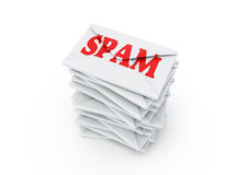 Spam. Envelop isolated on a white background Royalty Free Stock Images