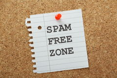 Spam Free Zone Stock Photo