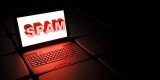 SPAM (het Elektronische spamming) Royalty-vrije Stock Foto