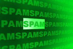 Spam illustration Royalty Free Stock Photo