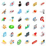 Spam letter icons set, isometric style Stock Photography