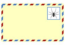 Spam letter with spiders Stock Photo