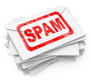 The spam letters Stock Image
