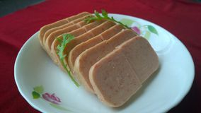Spam(Luncheon Meat) Royalty Free Stock Photo