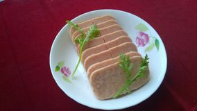 Spam(Luncheon Meat). Add spices (Spices) and Ham (Ham) made ​​of canned food. Mainly pork luncheon meat, chicken as raw material, adding a certain amount of Stock Images